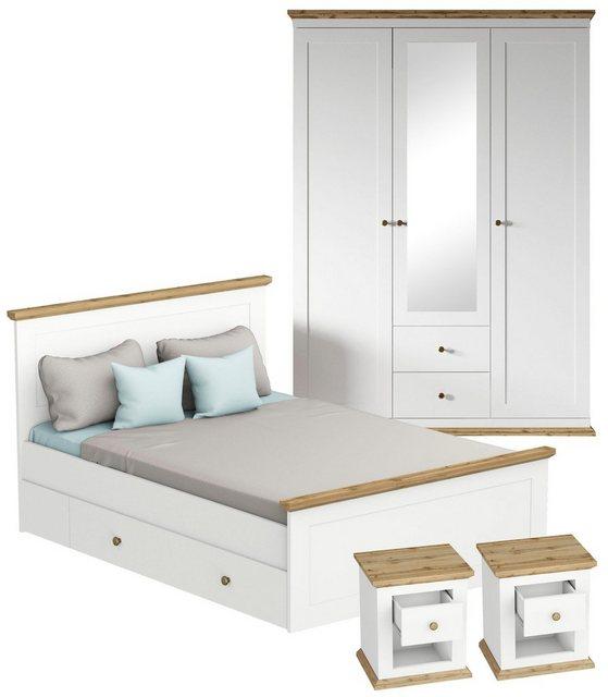 Schlafzimmer Sets - Home affaire Schlafzimmer Set »Banburry«, 4 teilig  - Onlineshop OTTO