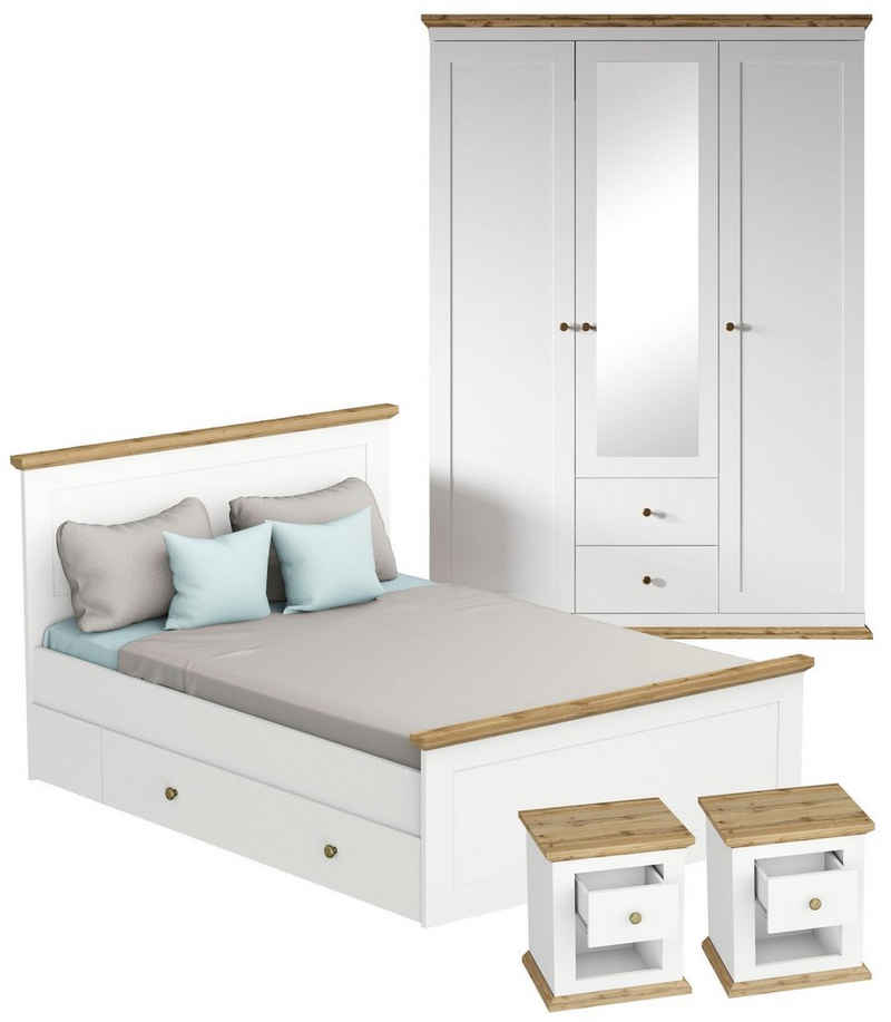 Home affaire Schlafzimmer-Set »Banburry«, (Set, 4-St), 4-teilig