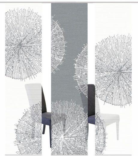 Schiebegardine »3ER SET CRISTON«, Vision S, Paneelwagen (3 Stück), Schiebevorhang 3er Set Digitaldruck