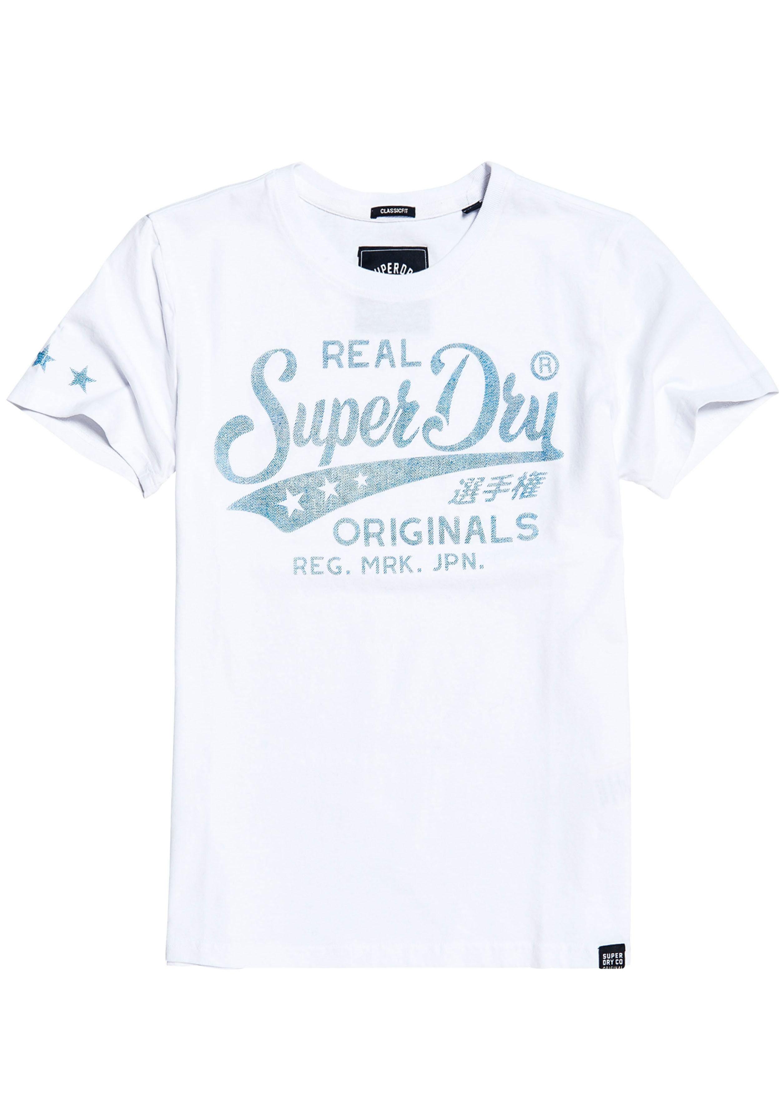 Denim T Logoprint Denimoptik Mit In Online »real Kaufen shirt Originals Superdry Tee« Entry gYfvb76y