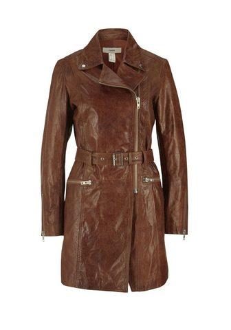 HEINE STYLE пальто кожаное с ремень