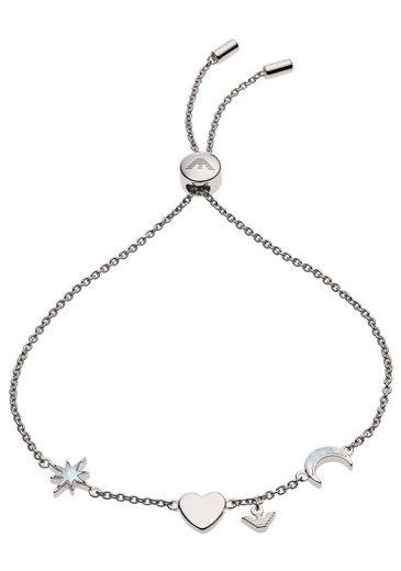 Emporio Armani Armband »Mond, Stern, Herz, EG3389040«, mit Perlmutt