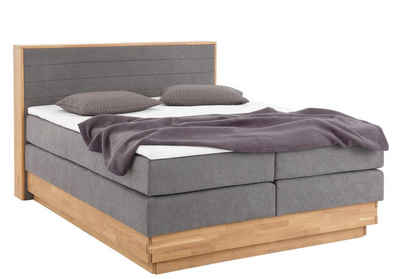 Premium Collection By Home Affaire Boxspringbett Cavan Aus Massiver Eiche Inkl Bettkasten Topper Verschiedene Härtegrade