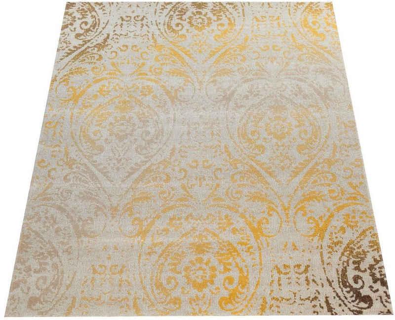 Teppich »Artigo 415«, Paco Home, rechteckig, Höhe 4 mm, Ornamente, Vintage Design, In- und Outdoor geeignet, Wohnzimmer