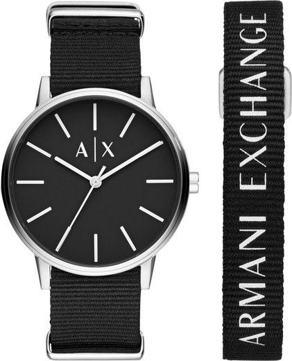 ARMANI EXCHANGE Quarzuhr »AX7111«, (Set, 2-tlg., mit Armband), mit Armband