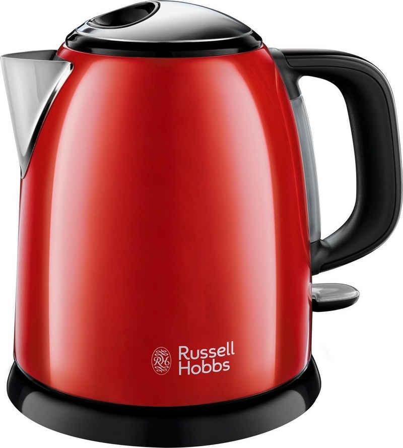 RUSSELL HOBBS Wasserkocher Colours Plus rot 24992-70, 1 l, 2400 W