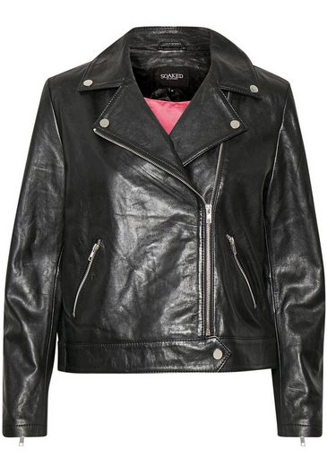 SOAKED IN LUXURY Bikerjacke im coolen Biker-Look