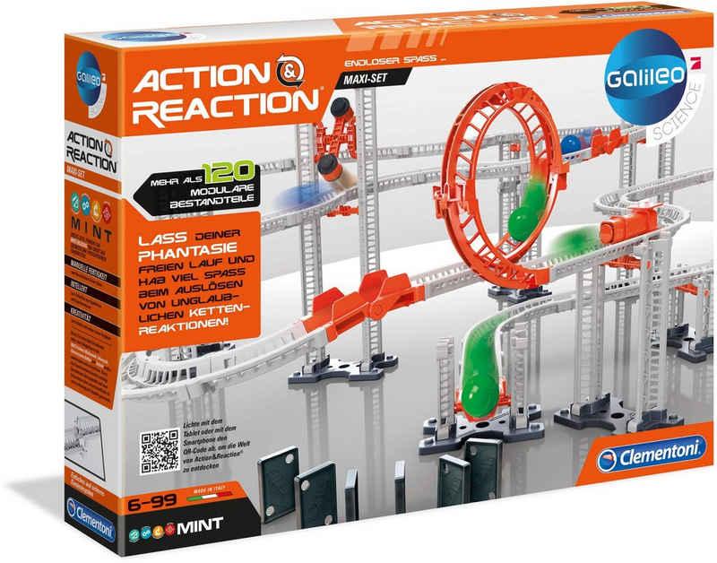 Clementoni® Kugelbahn-Bausatz »Galileo Action & Reaction Maxi Set«, (120-tlg), Made in Europe