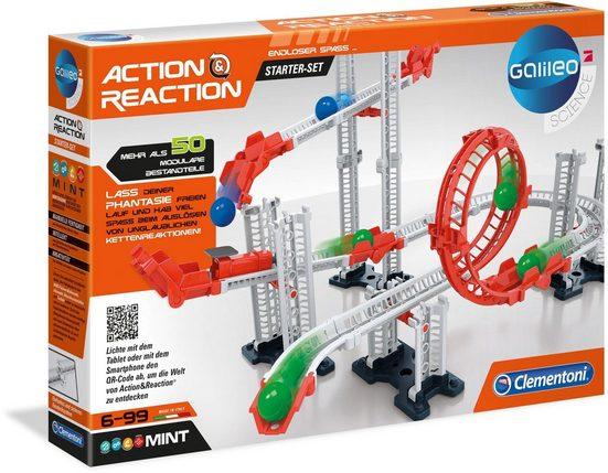 Clementoni® Kugelbahn »Galileo - Action & Reaction - Starter Set«, (50-tlg)