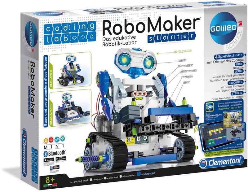 Clementoni® Modellbausatz »Galileo RoboMaker Starter«, mit kostenloser App; Made in Europe
