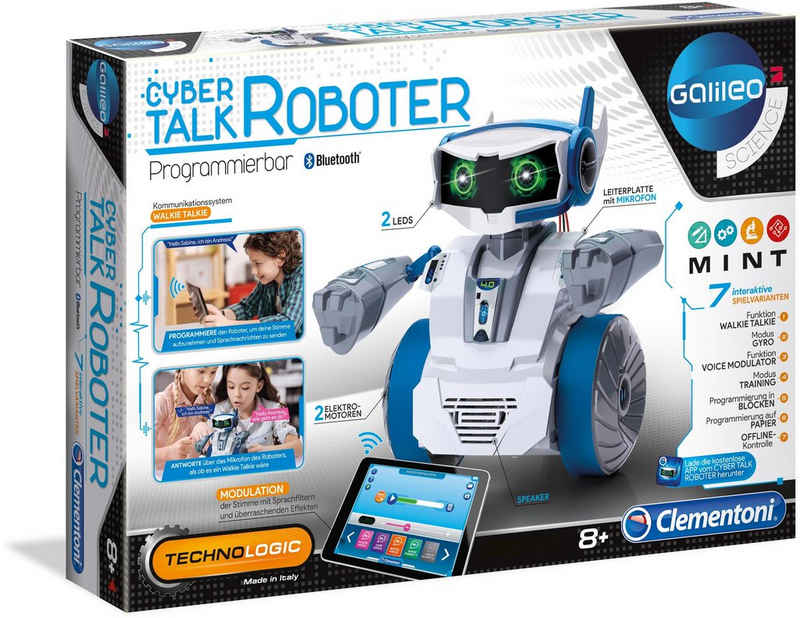 Clementoni® Modellbausatz »Galileo Cyber Talk Roboter«, Made in Europe