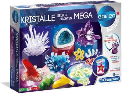 Clementoni® Experimentierkasten »Galileo - Kristalle selbst züchten Mega«, Made in Europe