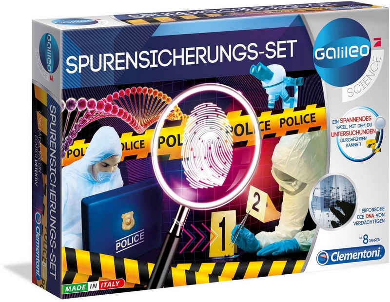 Clementoni® Experimentierkasten »Galileo Spurensicherungs-Set«, Made in Europe
