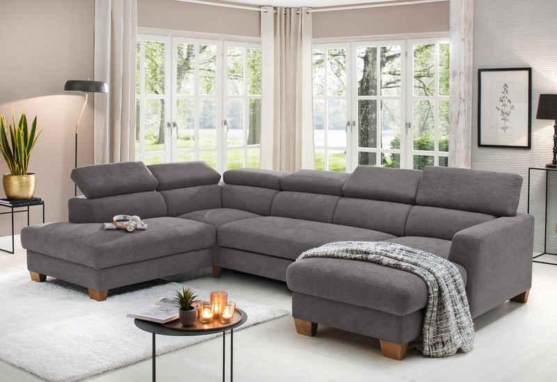 Home affaire Wohnlandschaft »Steve Luxus«, mit besonders hochwertiger Polsterung für bis zu 140 kg pro Sitzfläche