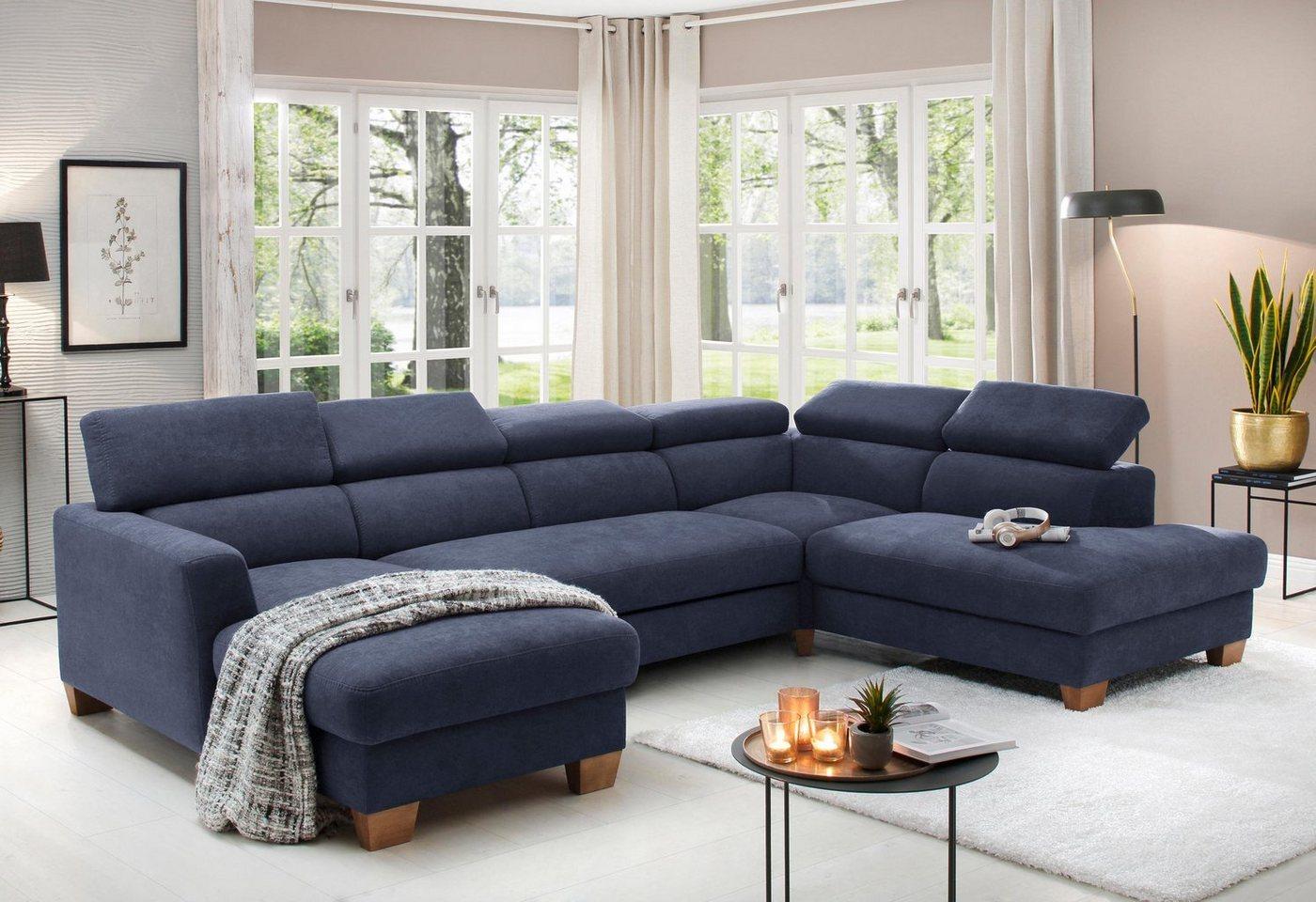 Sofas - Home affaire Wohnlandschaft »Steve de luxe«, mit besonders hochwertiger Polsterung für bis zu 140 kg pro Sitzfläche  - Onlineshop OTTO