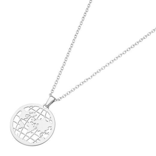 Smart Jewel Kette mit Anhänger »Weltkugel, Travel, Silber 925«