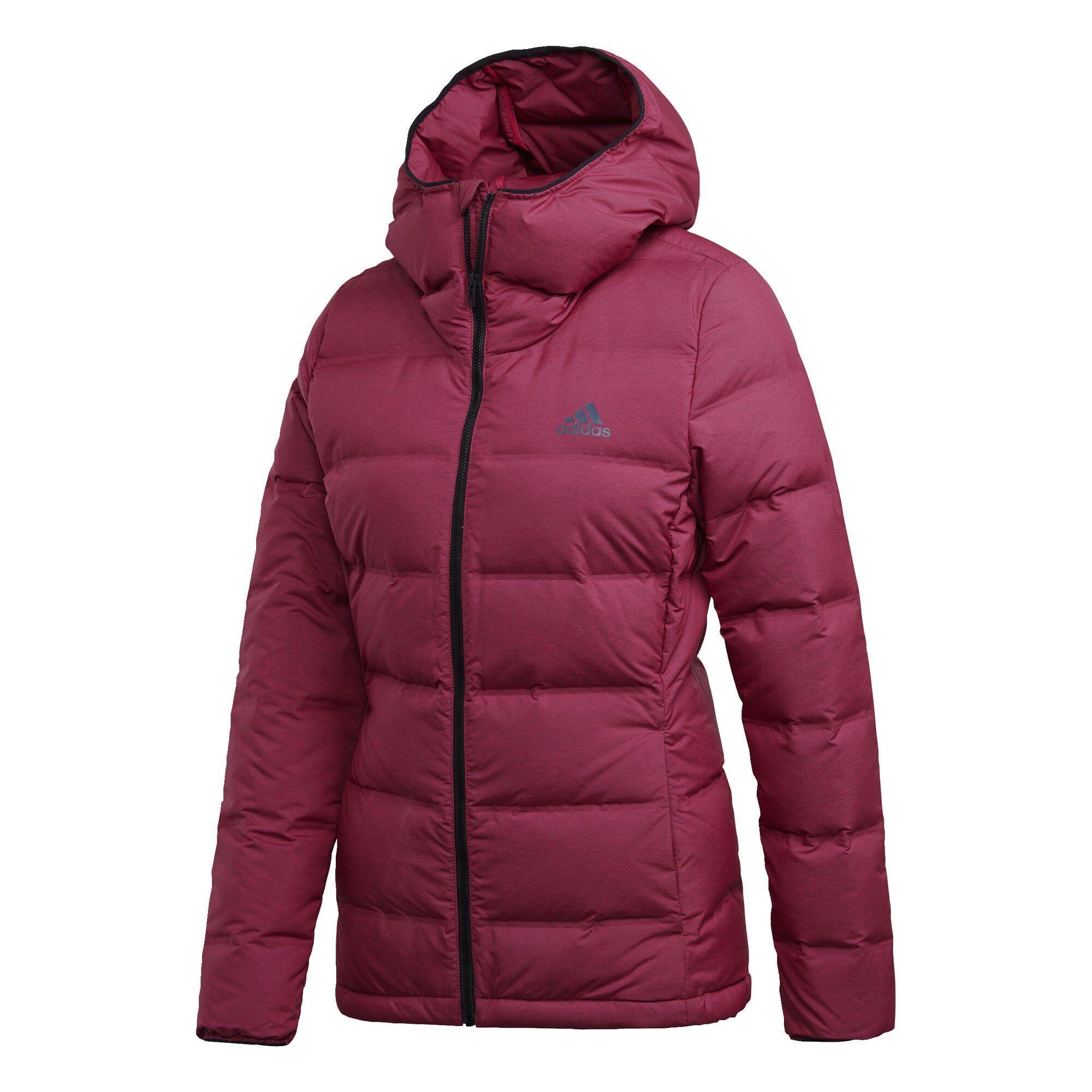 Adidas Slim Jacke Winterjacke gesteppt mit Kapuze für Damen in blau