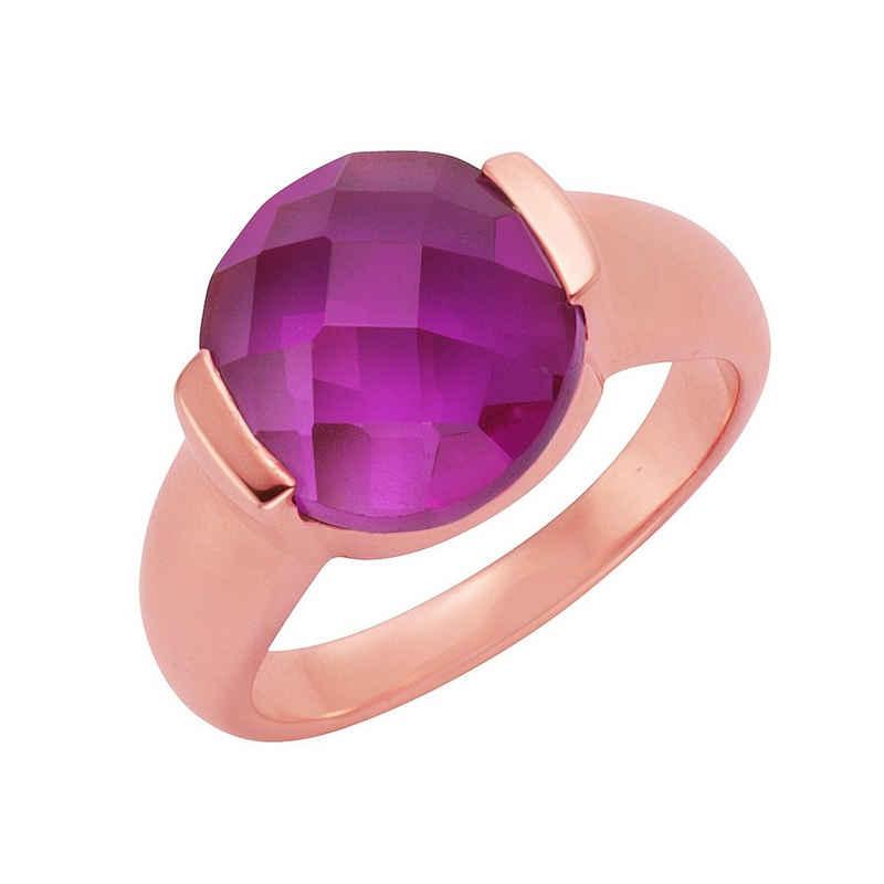Jamelli Ring »925/- Sterling Silber Quarz (beh)«