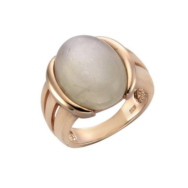 Zeeme Ring 925 Sterling Silber rotvergoldet Mondstein