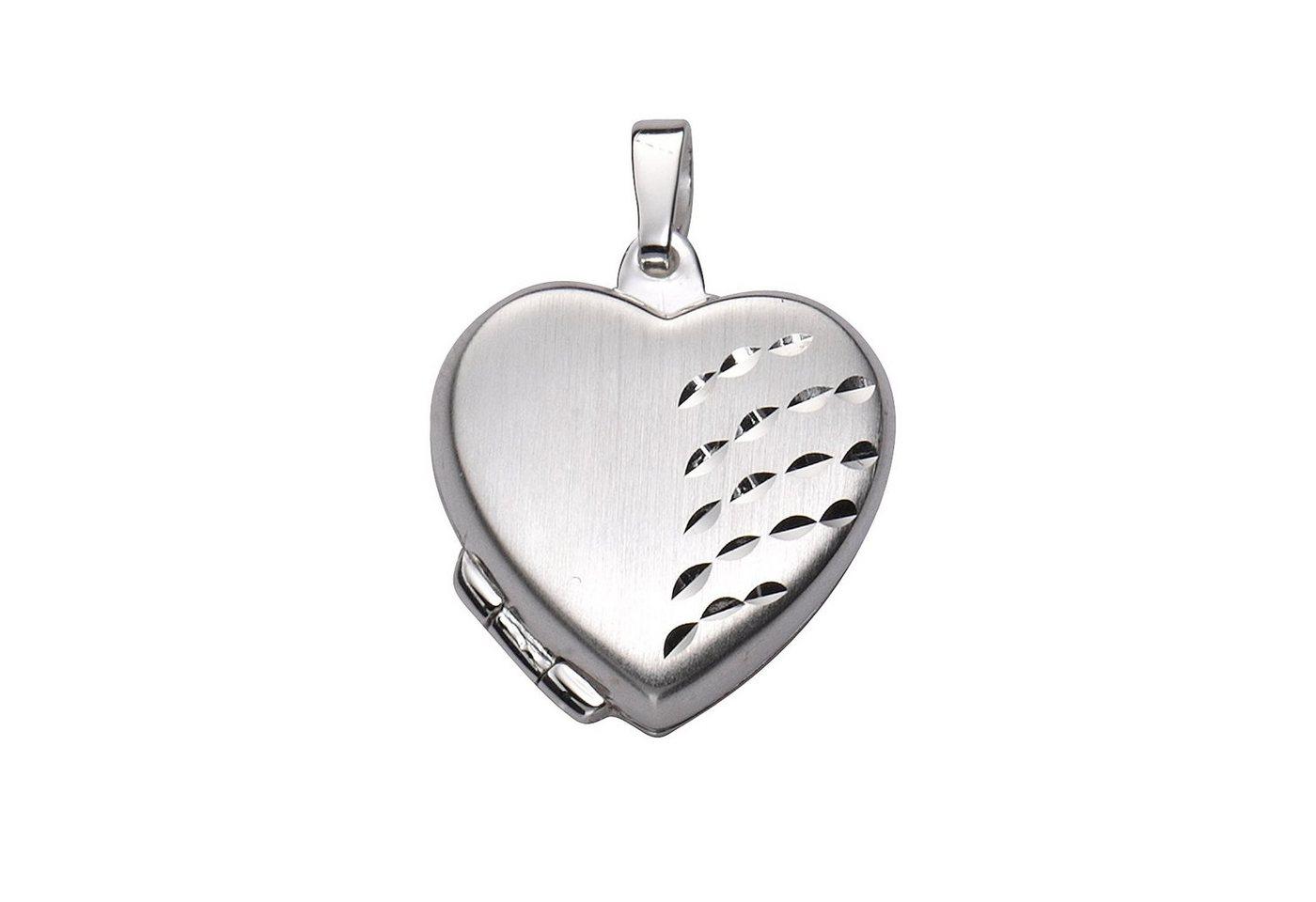 Zeeme Anhänger »925/- Sterling Silber Herz Medaillon« | Schmuck > Halsketten > Herzketten | Weiß | Zeeme