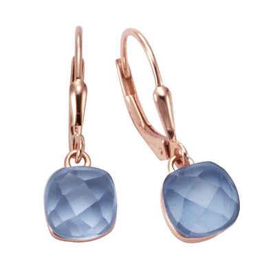 Jamelli Paar Ohrhänger »925/- Sterling Silber Quarz blau (beh)«, Ohrhänger