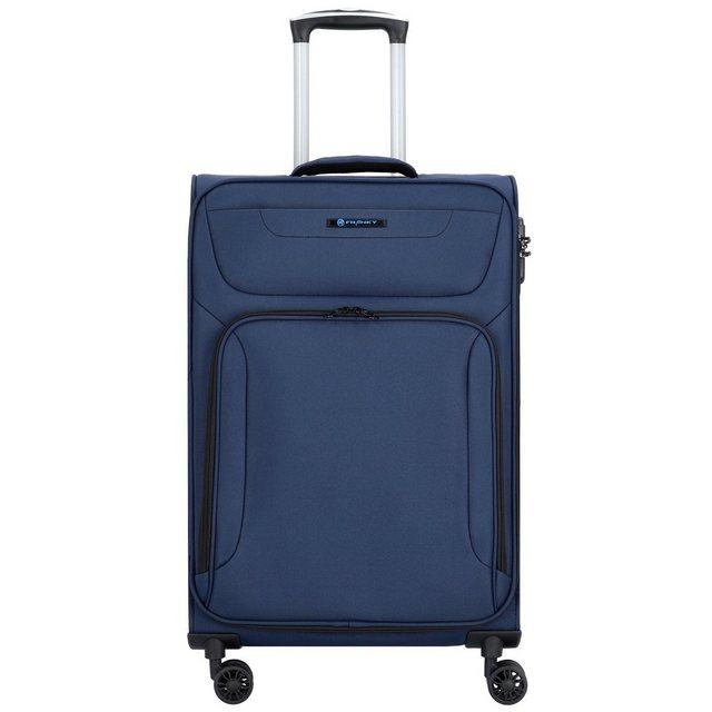 Franky Melbourne 4-Rollen Trolley 68 cm mit Doppelrollen   Taschen > Koffer & Trolleys > Trolleys   Blau   Franky