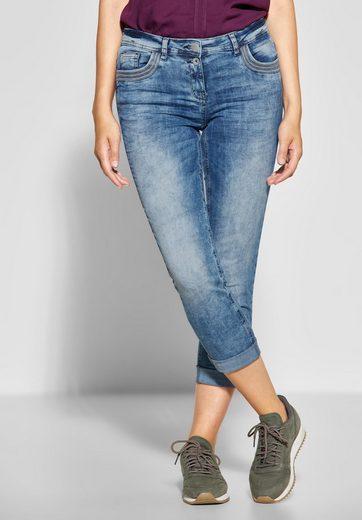 Cecil Slim-fit-Jeans mit Pailletten