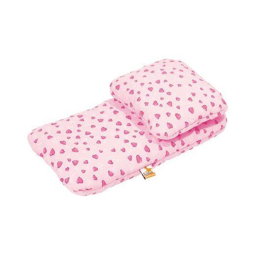 Pinolino® Puppenbettzeug für Puppenwagen Herzchen, rosa, 2-tlg.