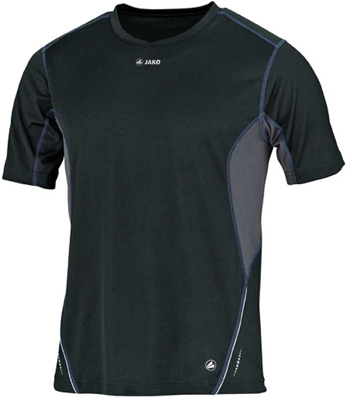 JAKO Running T-Shirt Discover Kinder in schwarz/grau