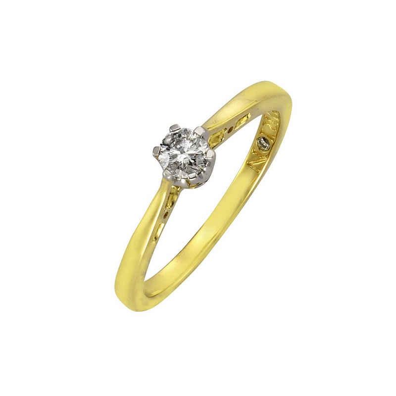 Diamonds by Ellen K. Ring »585/- Gold bicolor Brillant 0,25ct.«