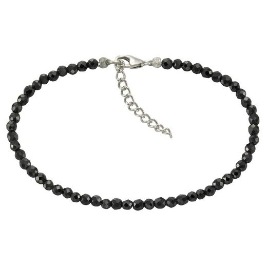 Zeeme Armband »925/- Sterling Silber Zirkonia schwarz«