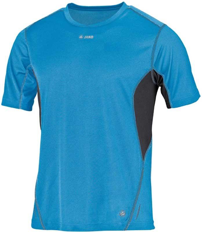 JAKO Running T-Shirt Discover Herren in türkis/grau