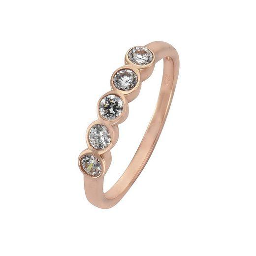 Zeeme Ring »925/- Sterling Silber Zirkonia weiß«