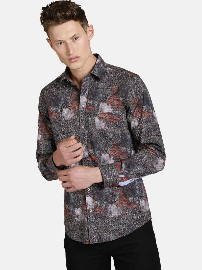 SHIRTMASTER Langarmhemd »rushofcolour« mit Print im Patchwork Stil