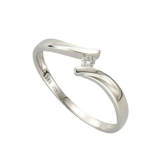Diamonds by Ellen K Ring 585 Weissgold Brillant 0 06ct