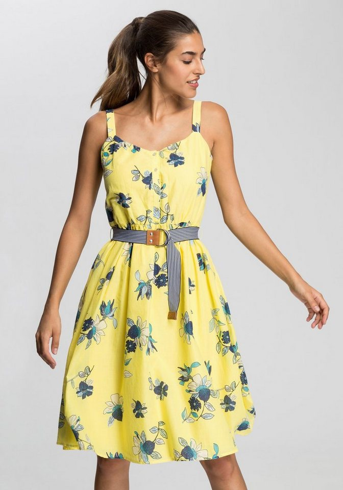 4275798d82a0 edc by Esprit Sommerkleid mit farblich abgesetztem Gürtel online kaufen |  OTTO