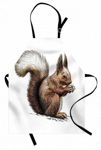 Abakuhaus Kochschürze »Höhenverstellbar Klare Farben ohne verblassen«, Eichhörnchen Sketch Artwork Wildlife