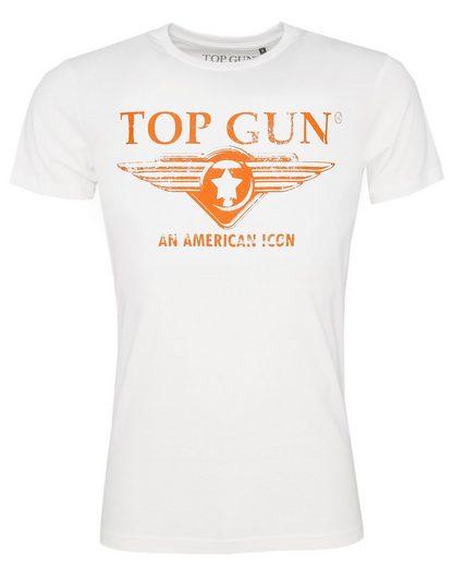 TOP GUN T-Shirt »Beach« sportlicher Schnitt