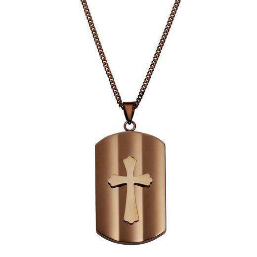 Zeeme Kette mit Anhänger »Edelstahl Kreuz«, mit Geschenketui