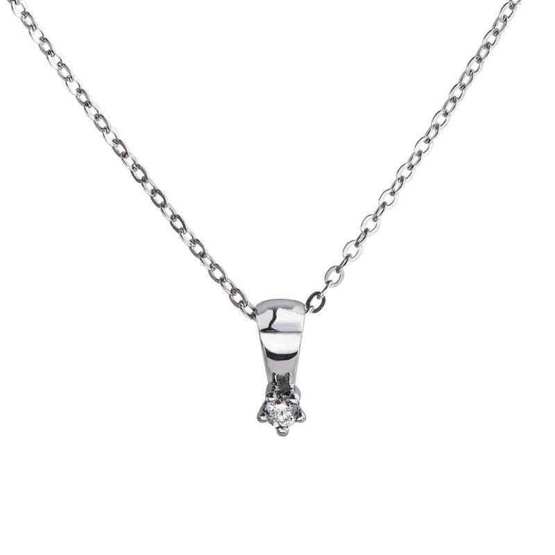 CELESTA Anhänger mit Kette »925/- Silber 1x Diamant«