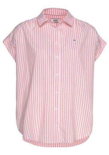 TOMMY JEANS Shirtbluse mit modischem 3-fachem Streifen
