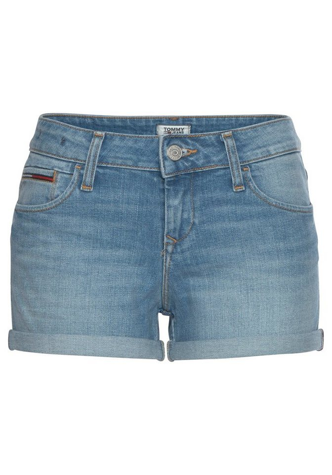 Damen TOMMY JEANS Shorts »CLASSIC DENIM LONGER SHORT« mit Tommy Jeans Logo-Flag  | 08719858633842