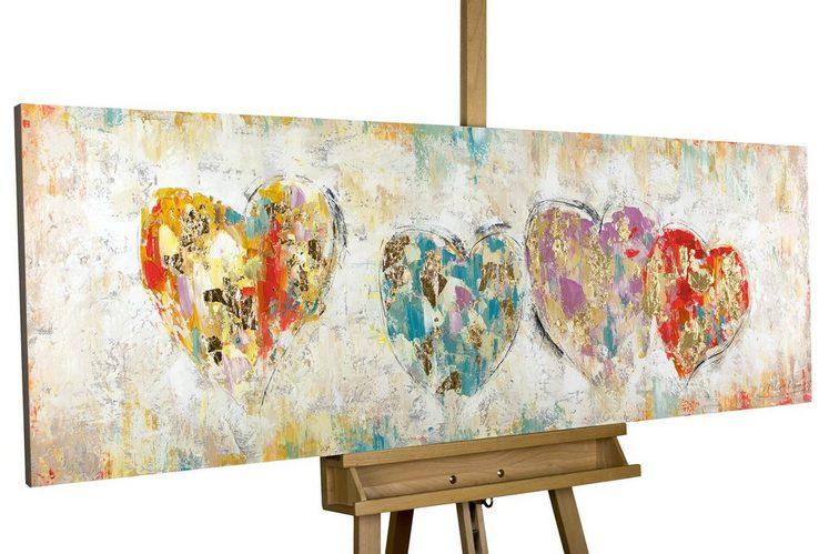 KUNSTLOFT Gemälde »Color My Heart«, handgemaltes Bild auf Leinwand