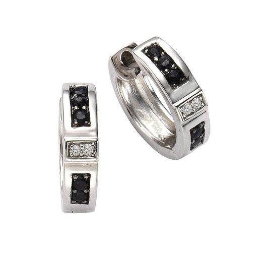CELESTA Creolen »925/- Silber 4x Diamant«