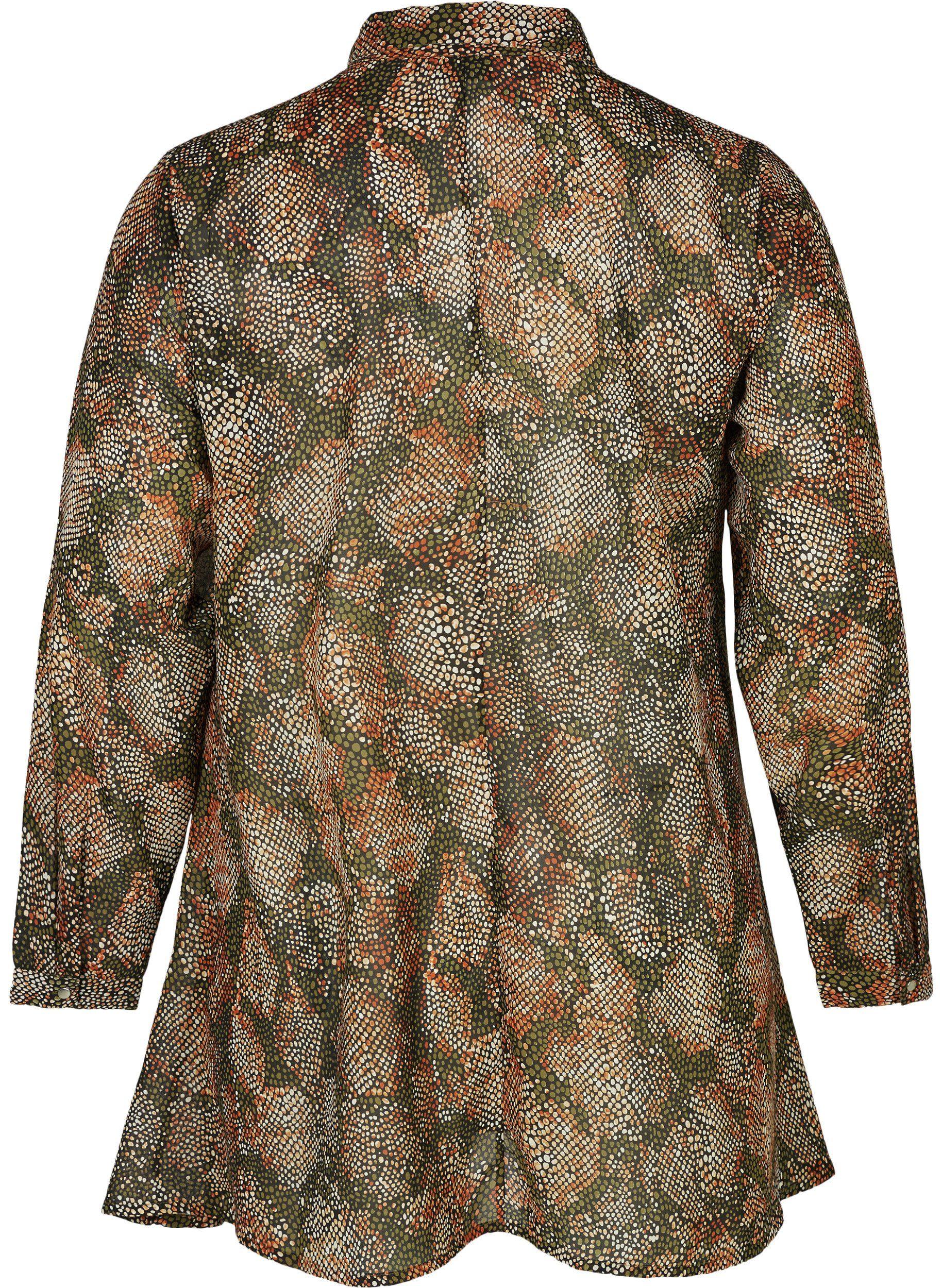 Größen Muster Zizzi Kaufen Große form A Online Tunika Damen Oberteil Langarm Kragen g6vYbyf7