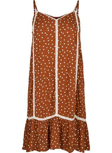 zizzi sommerkleid damen große größen kleid punkte rüschen