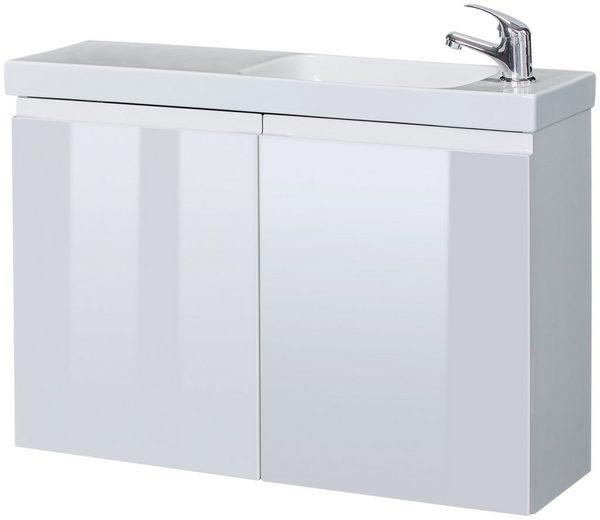 HELD MÖBEL Waschplatz-Set »Merida«, Waschtisch, reduzierte Tiefe, 80 cm breit, 2 tlg.