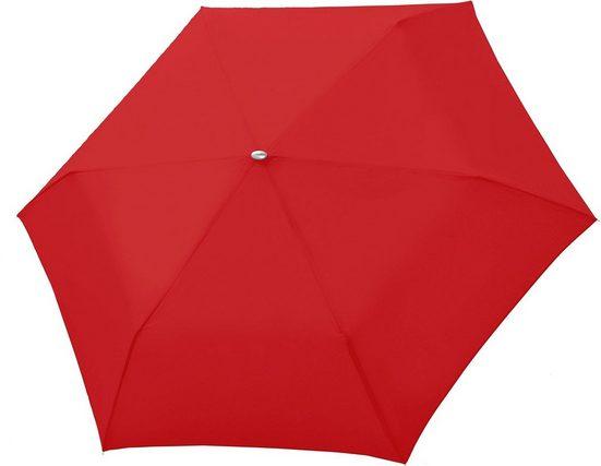 doppler® Taschenregenschirm »Carbonsteel Mini Slim uni, Red«