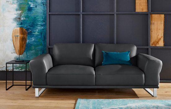 W.SCHILLIG 2,5-Sitzer »montanaa«, mit Metallkufen in Chrom glänzend, Breite 212 cm