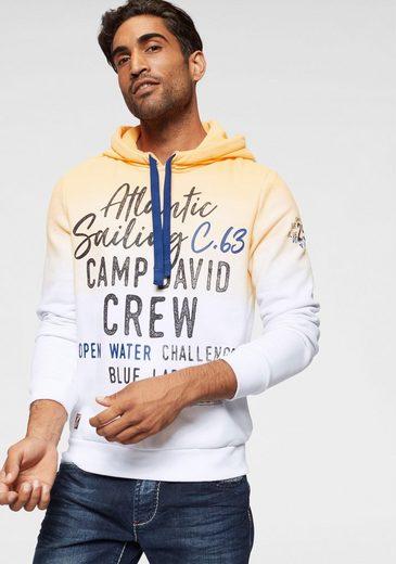 CAMP DAVID Kapuzensweatshirt mit Farbverlauf
